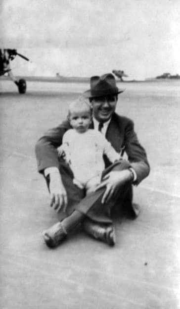 Dad And Me 1934 At Floyd Benitt Fld In NYC 2