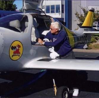 William A. Hogarty and plane