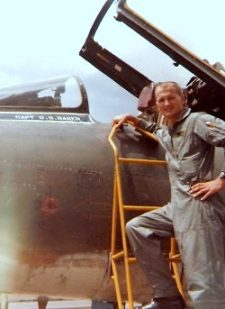 Duane and his F-100 in Vietnam