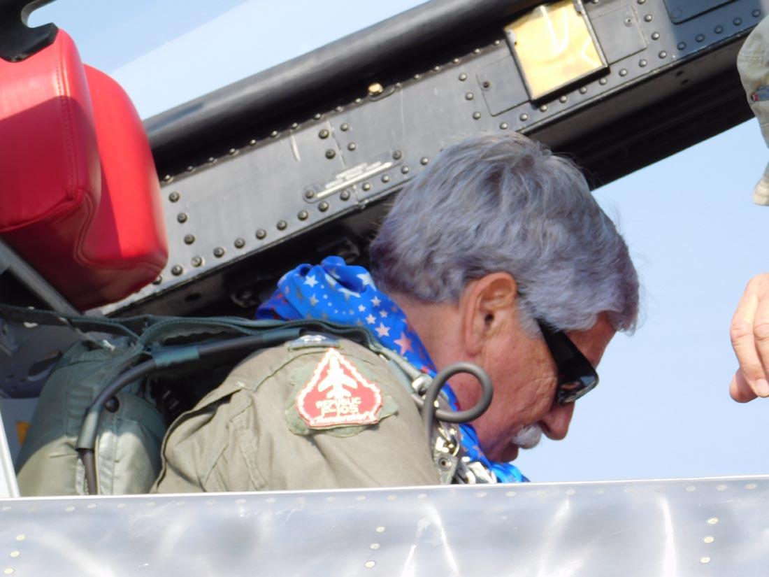 Dusty getting ready for flight