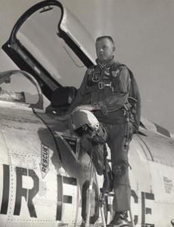 Wayne E Davis With F 100