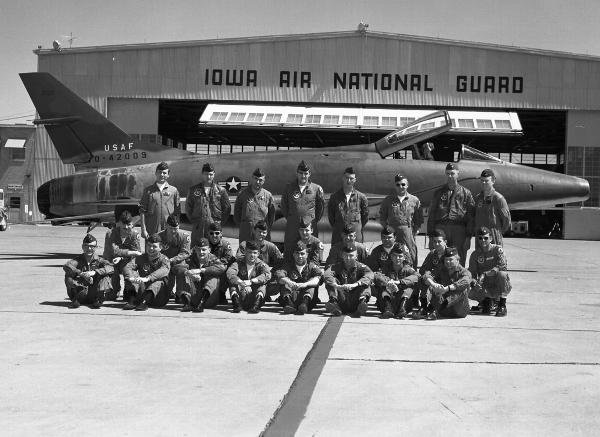 Lieutenant Warren Brown is second from the right in the front row
